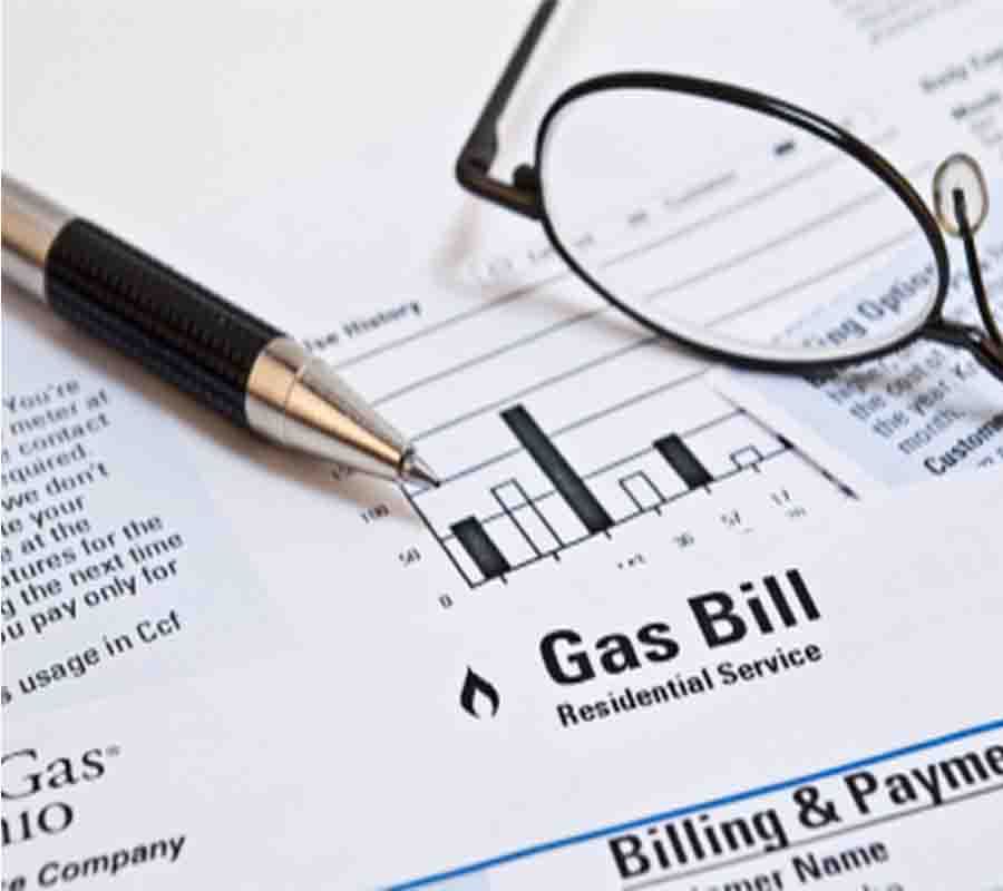 gas bill in credit meaning